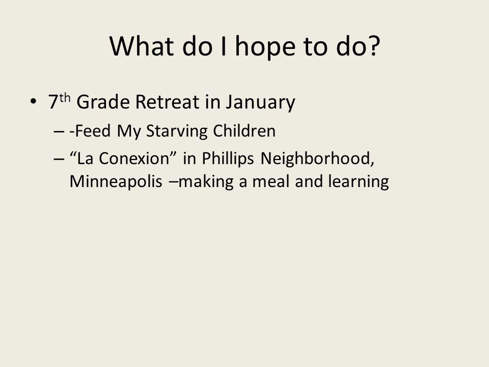 What do I hope to do.
