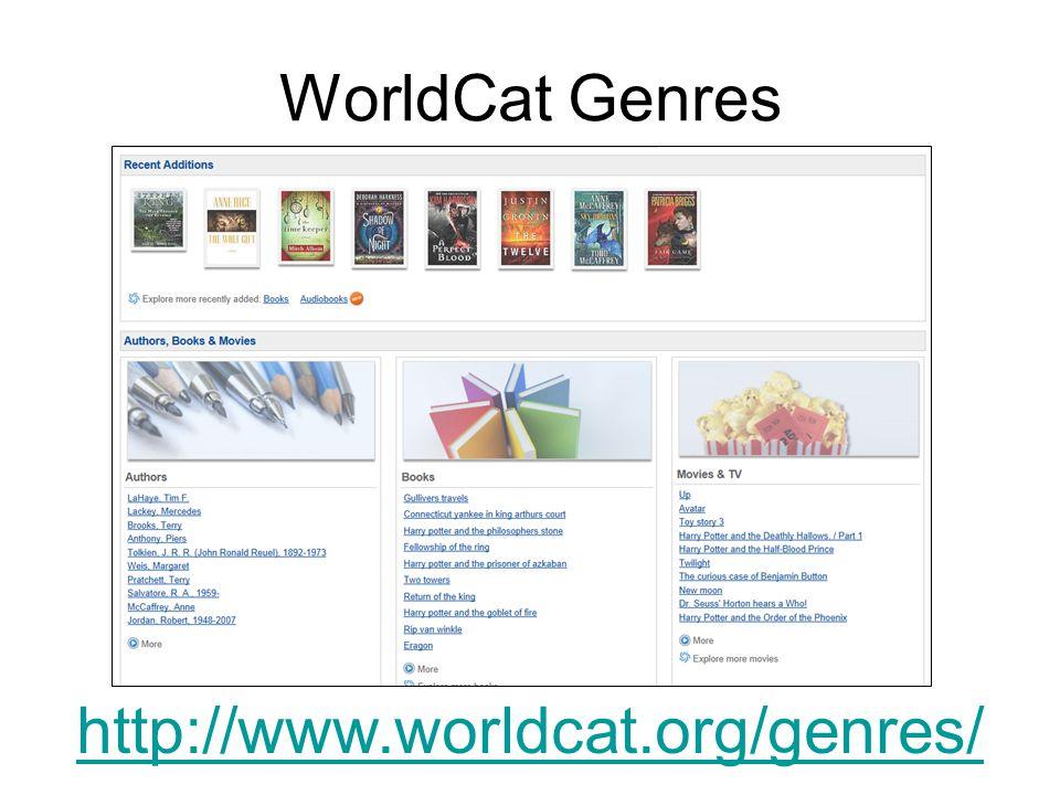 WorldCat Genres http://www.worldcat.org/genres/
