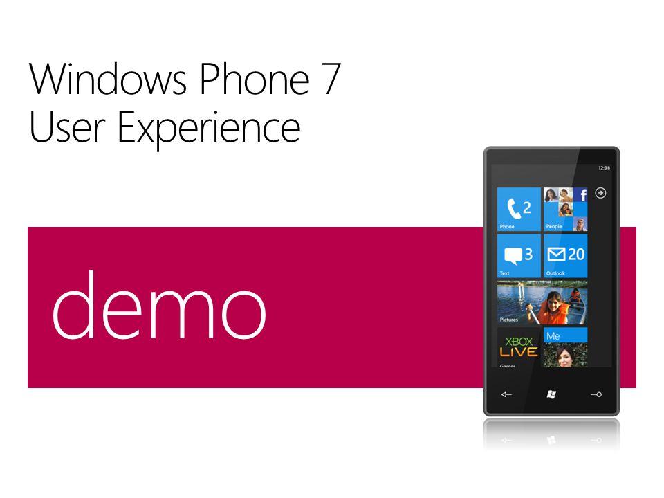 Windows Phone 7 User Experience demo