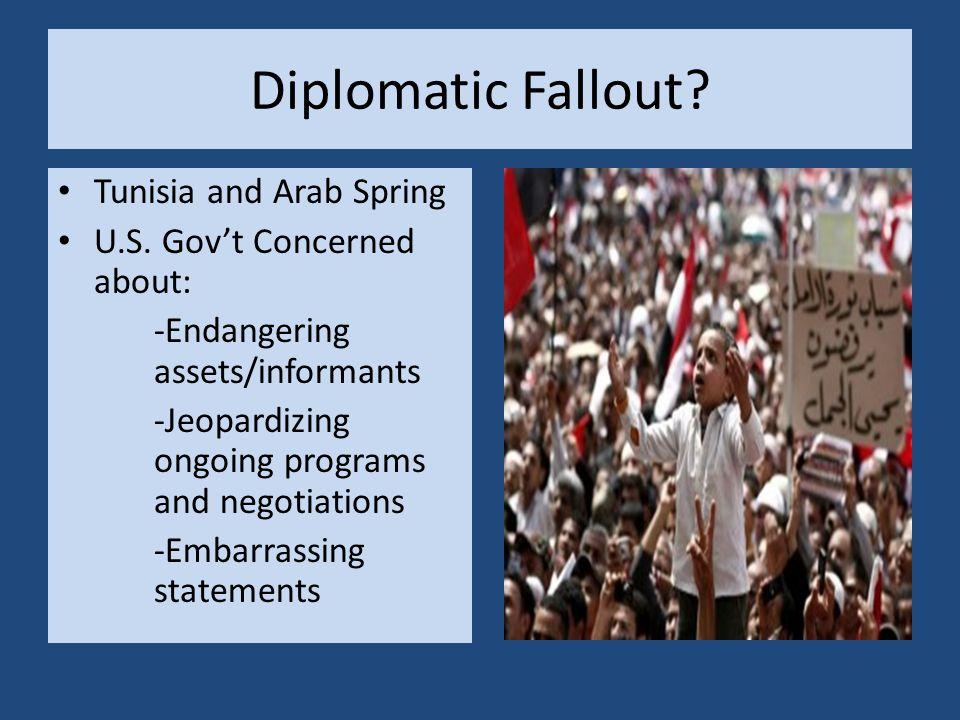 Diplomatic Fallout. Tunisia and Arab Spring U.S.