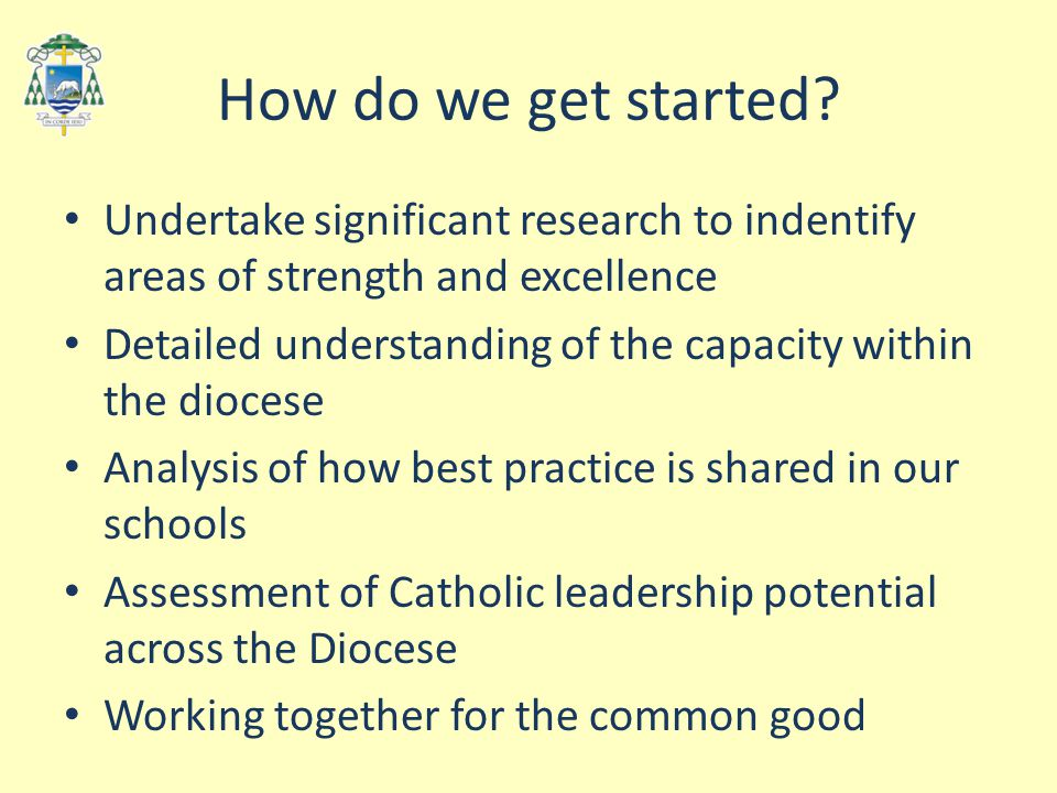 How do we get started? Undertake significant research to indentify areas of strength and excellence Detailed understanding of the capacity within the