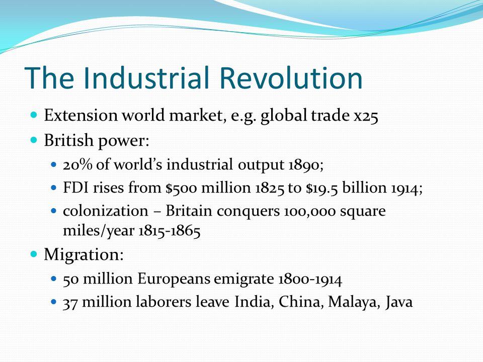The Industrial Revolution Extension world market, e.g.