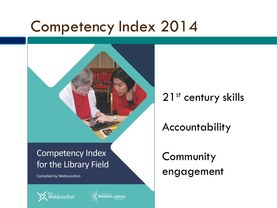 Competency Index 2014 21 st century skills Accountability Community engagement
