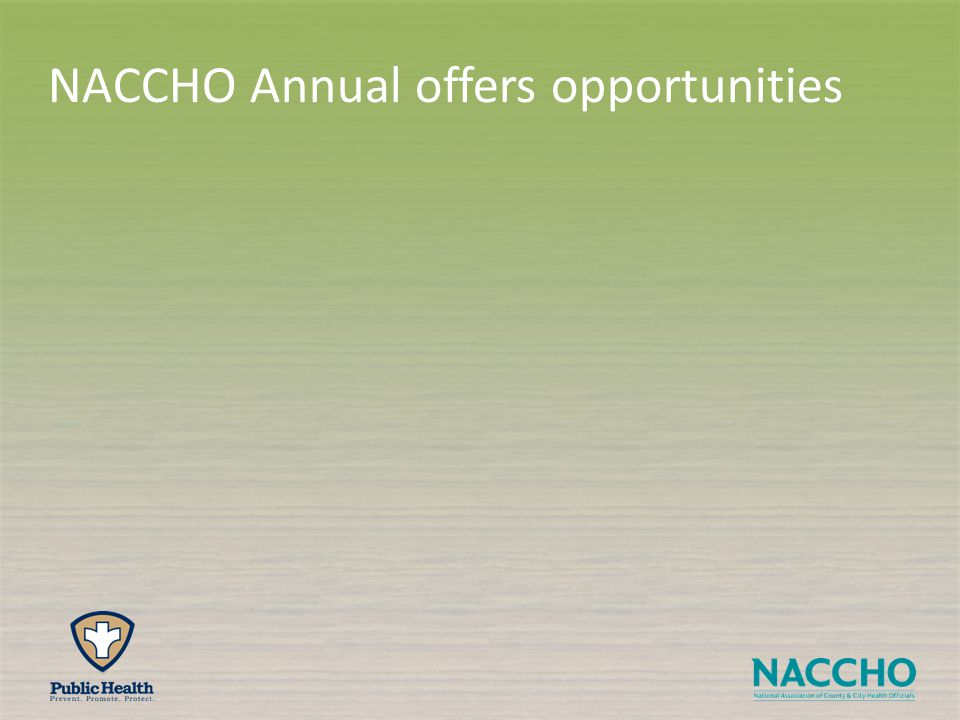 NACCHO Annual offers opportunities