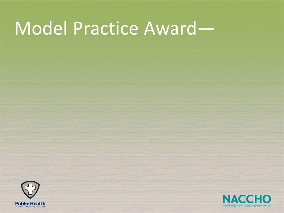 Model Practice Award—
