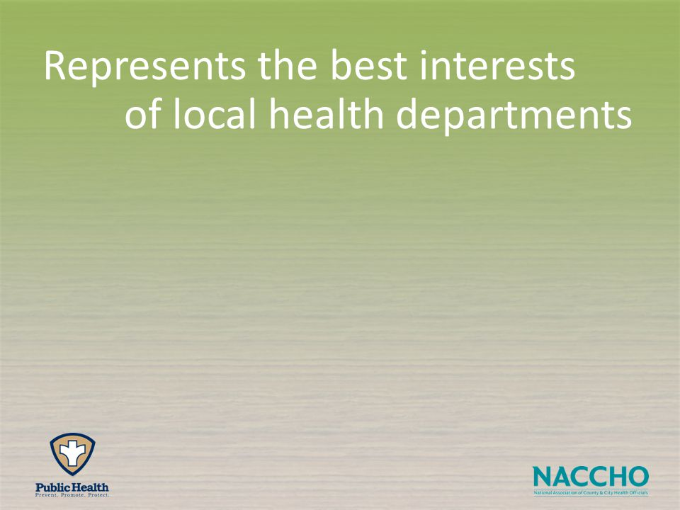 of local health departments