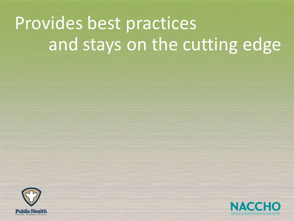 and stays on the cutting edge Provides best practices