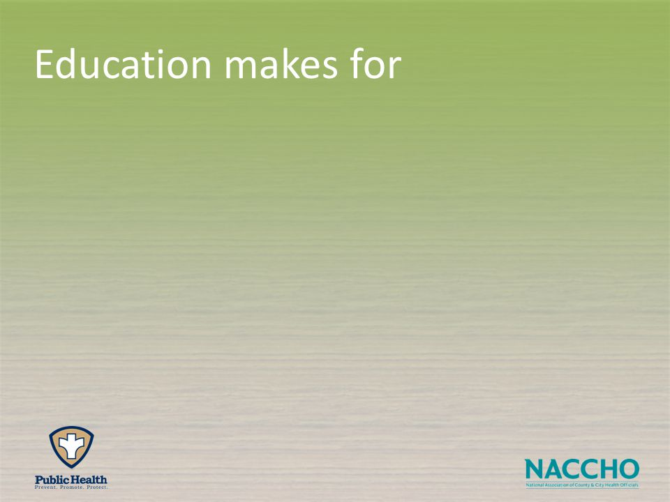Education makes for