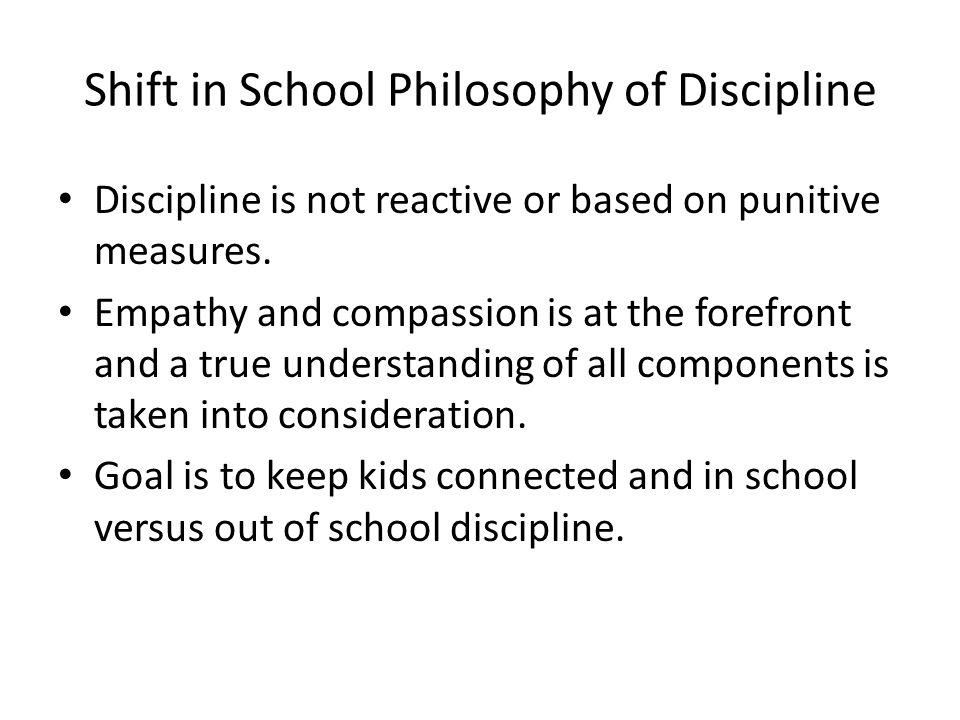 Discipline at the School…