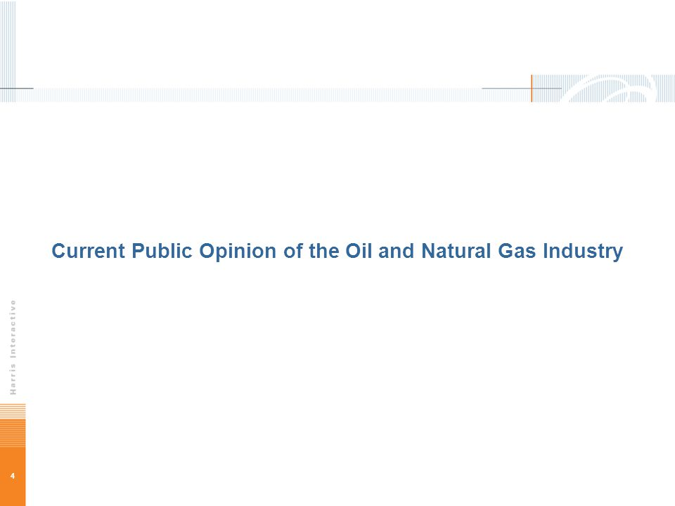 4 Current Public Opinion of the Oil and Natural Gas Industry
