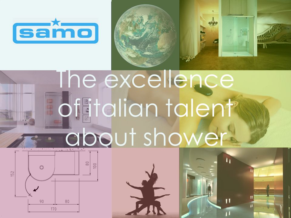 The excellence of italian talent about shower