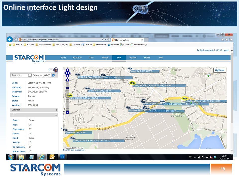 19 Online interface Light design
