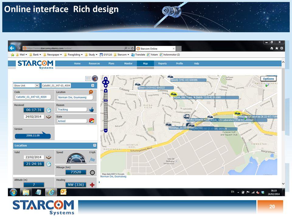 20 Online interface Rich design