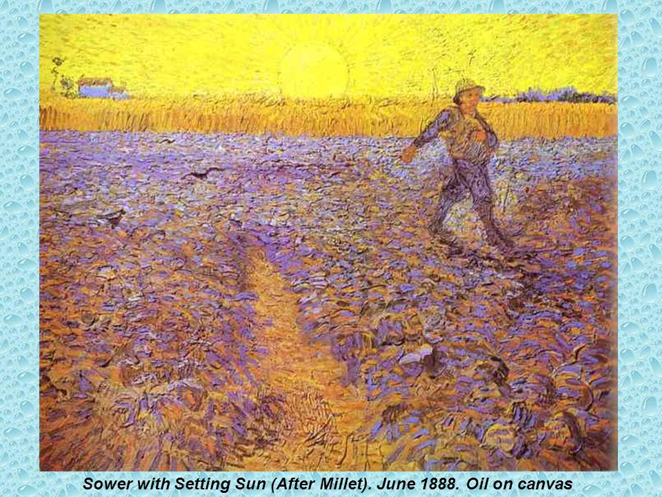 Sower with Setting Sun (After Millet). June 1888. Oil on canvas