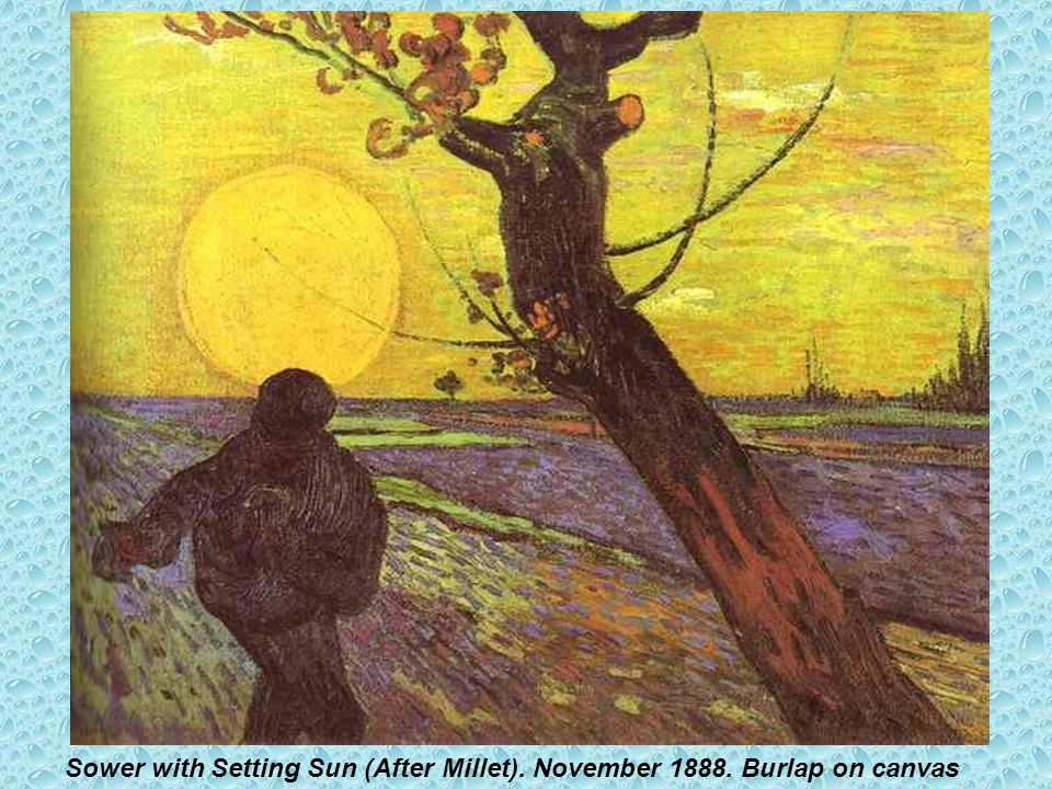 Sower with Setting Sun (After Millet). November 1888. Burlap on canvas