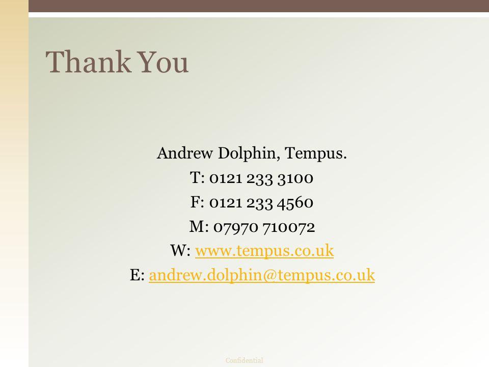 Andrew Dolphin, Tempus.