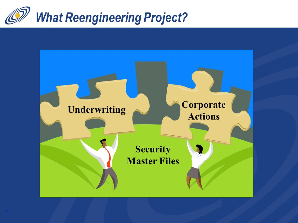 2 What Reengineering Project Underwriting Corporate Actions Security Master Files