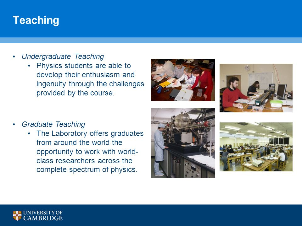 Teaching Undergraduate Teaching Physics students are able to develop their enthusiasm and ingenuity through the challenges provided by the course.