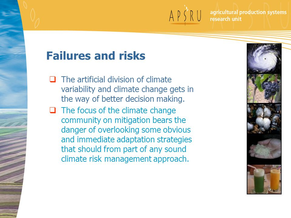 Failures and risks  The artificial division of climate variability and climate change gets in the way of better decision making.