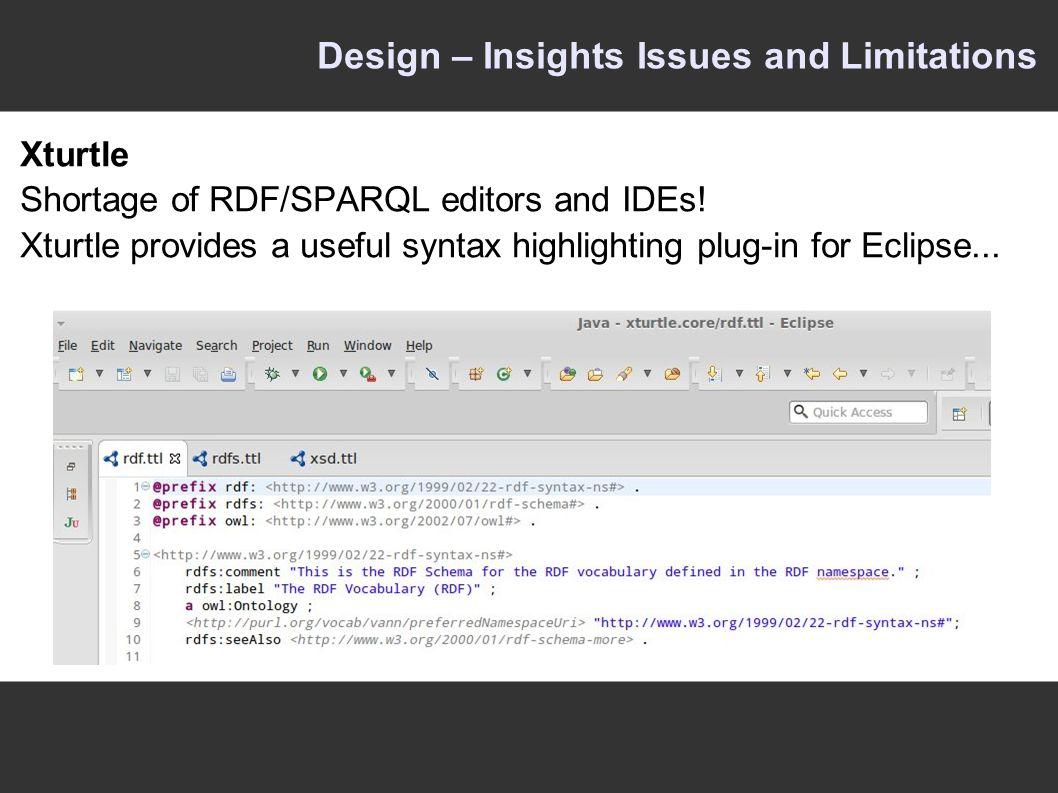 Xturtle Shortage of RDF/SPARQL editors and IDEs.
