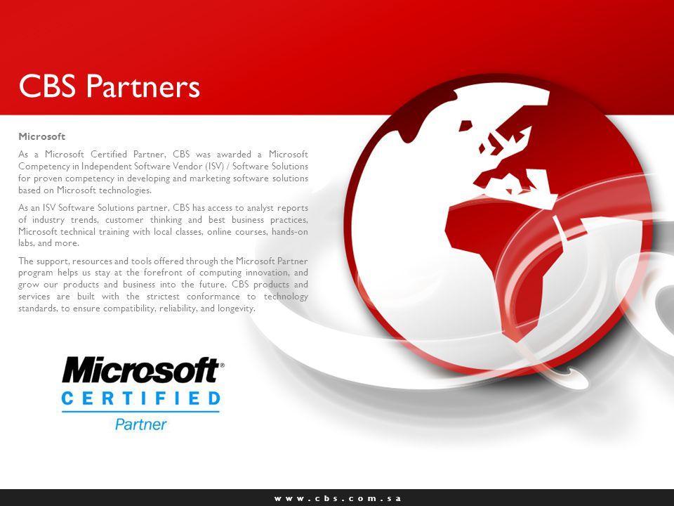 w w w.c b s. c o m. s a CBS Partners Cisco Systems Cisco Systems, Inc.