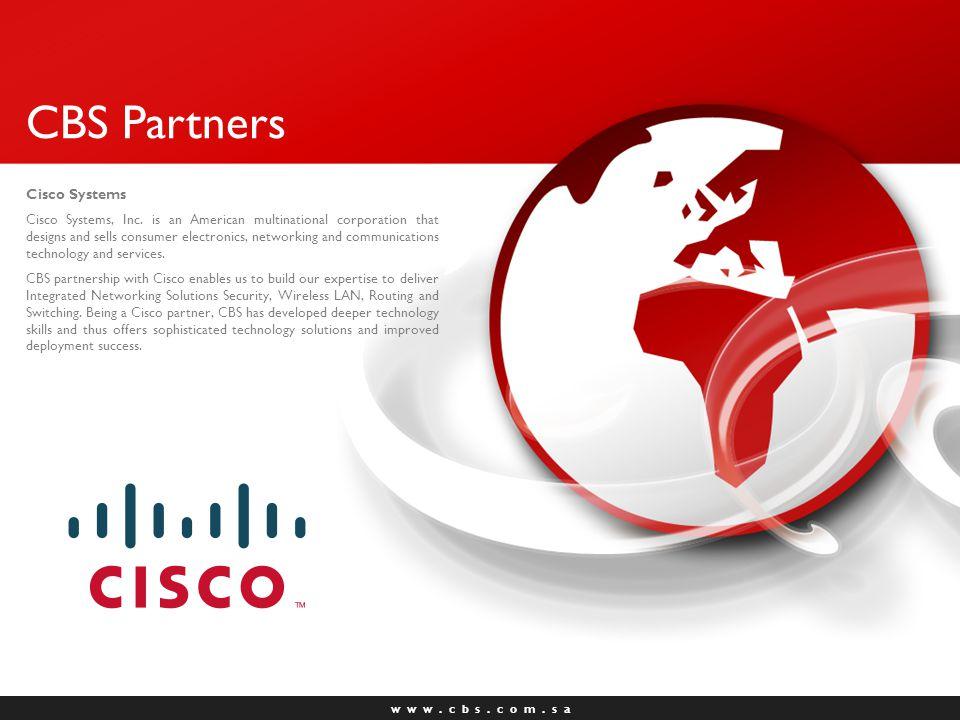 w w w.c b s. c o m. s a CBS Partners Aruba Networks Aruba Networks, Inc.