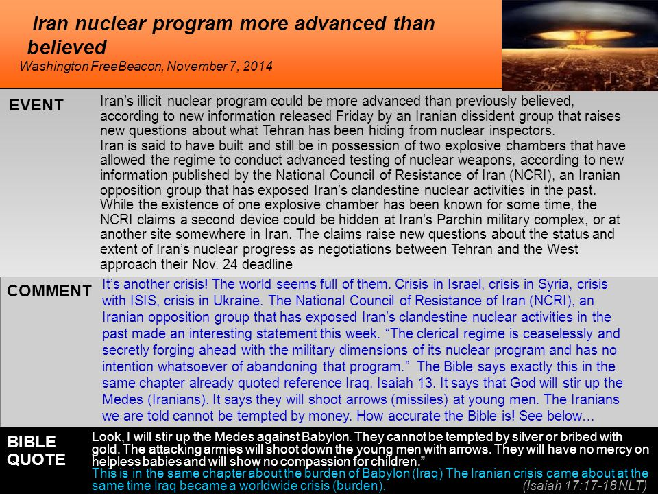 Iran nuclear program more advanced than believed Iran's illicit nuclear program could be more advanced than previously believed, according to new info