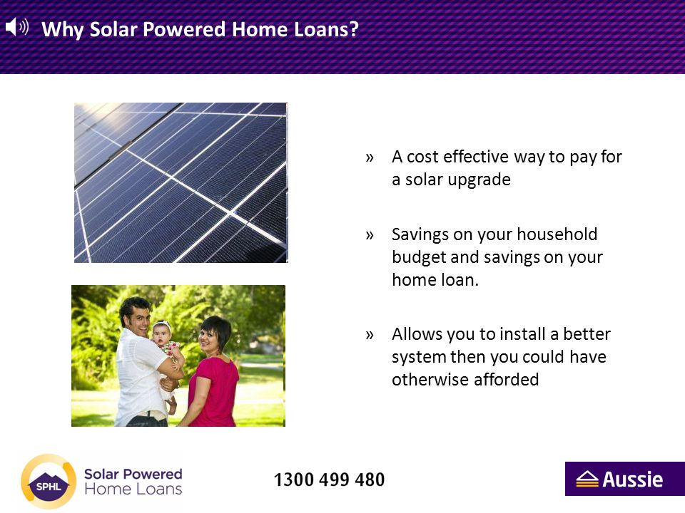 Solar Powered Home Loans – Example of 'The Calculator'