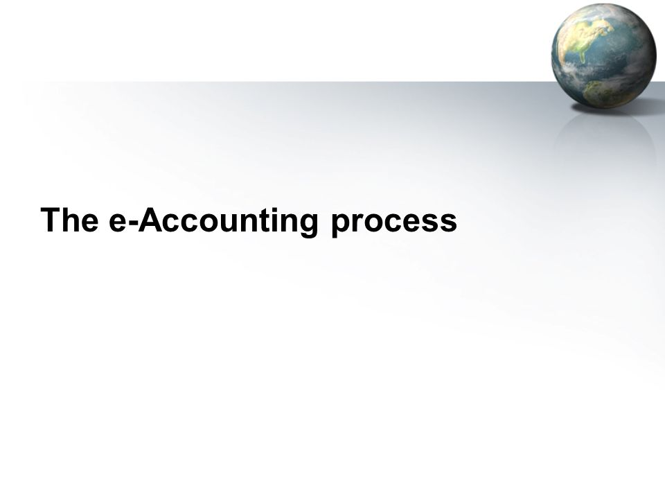 The e-Accounting process