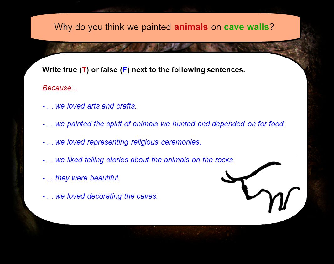Why do you think we painted animals on cave walls.