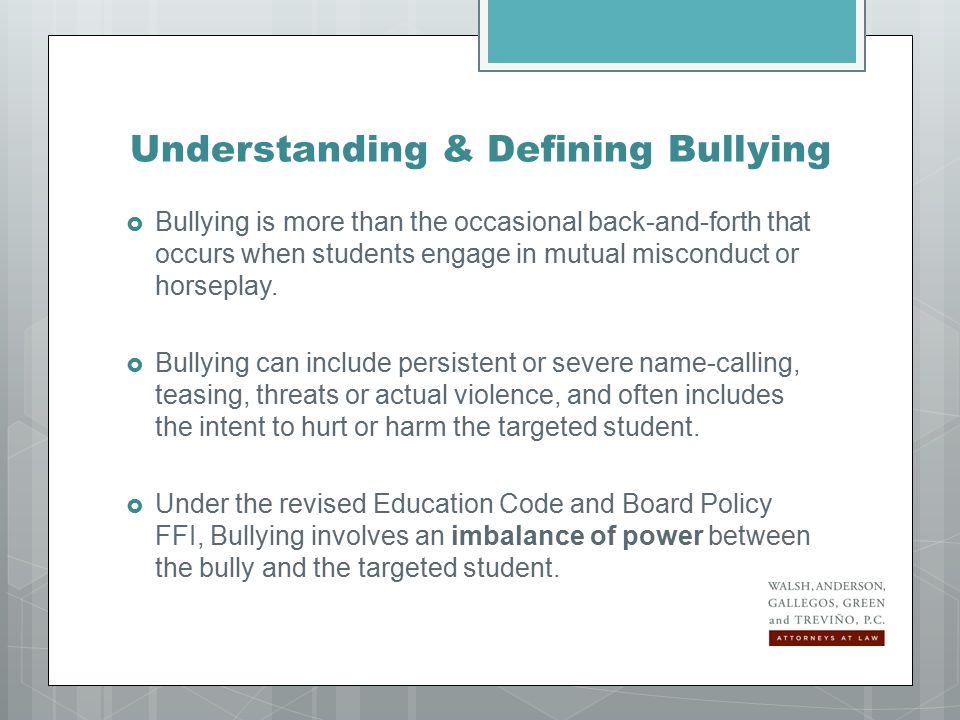 Secretary Arne Duncan said in 2010: Bullying is deliberate.