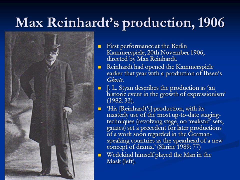 Max Reinhardt's production, 1906