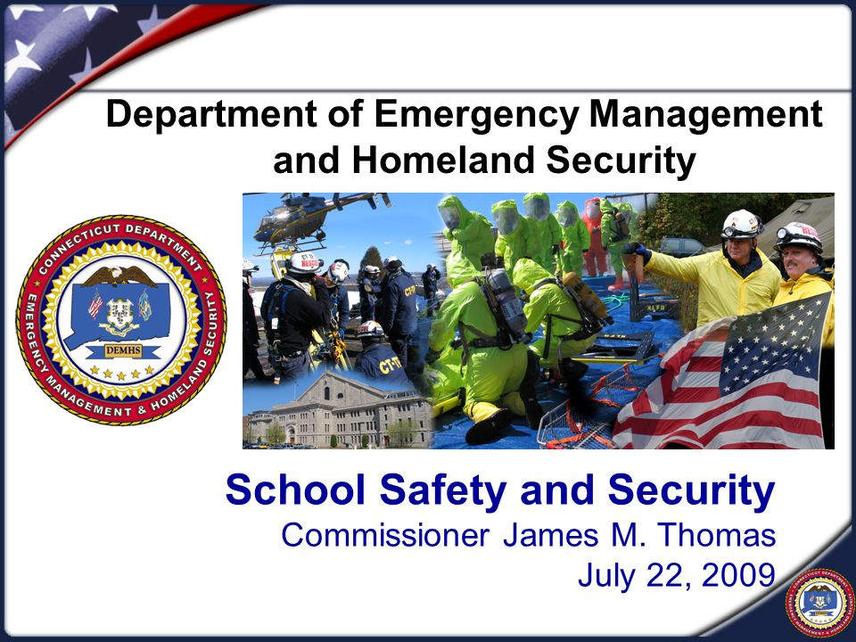 School Safety and Security Commissioner James M.