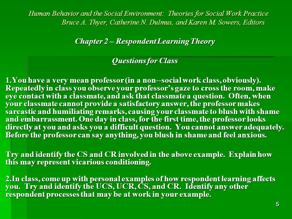 1 Human Behavior And The Social Environment Theories For Social