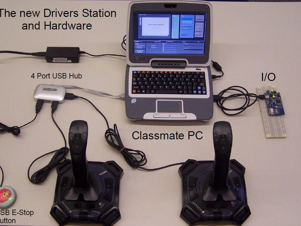 17 Driver Station Software The Driver Station software is an executable built with LabVIEW Works only on Windows 2000/XP/Vista PC Communication protocol is compatible with the Kwikbyte DS, making them interchangeable Does everything the Kwikbyte DS did and more