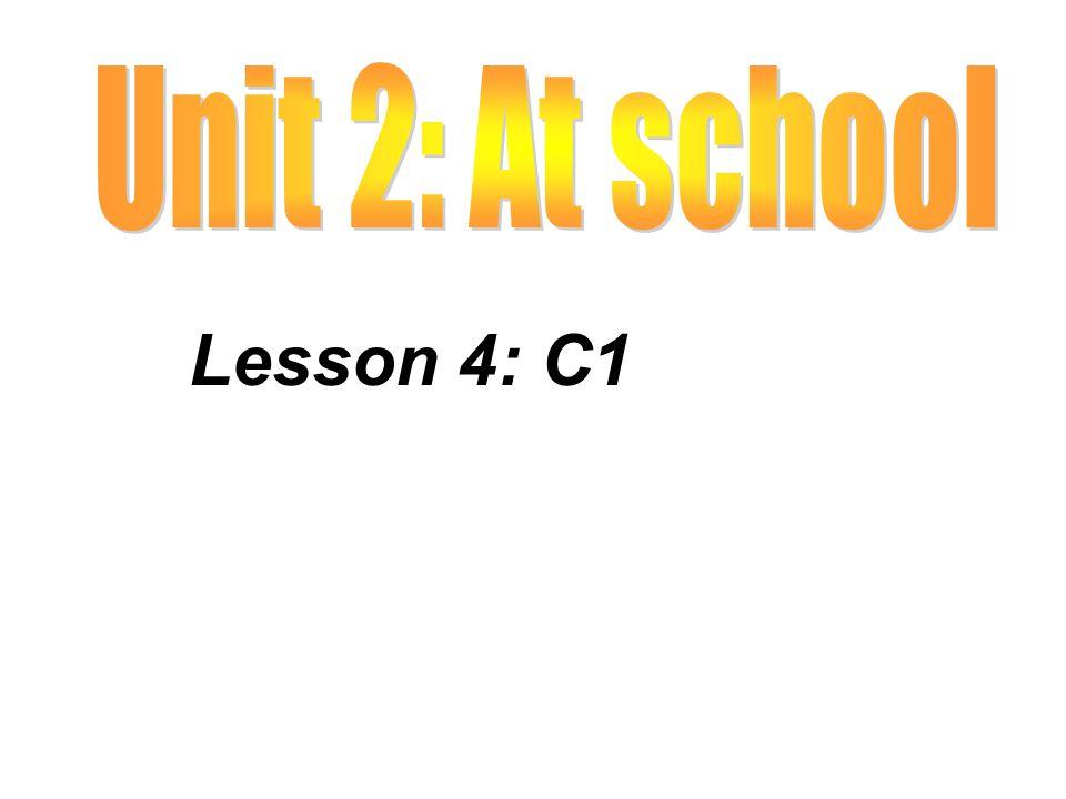Lesson 4: C1