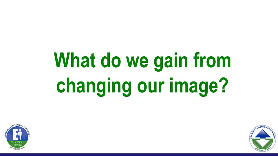 What do we gain from changing our image