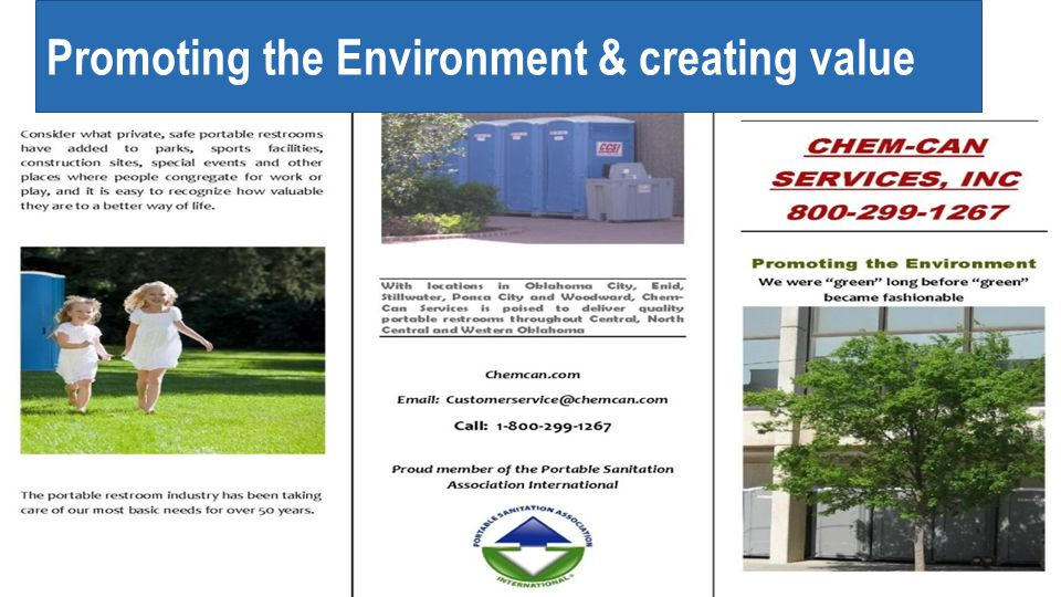 Promoting the Environment & creating value