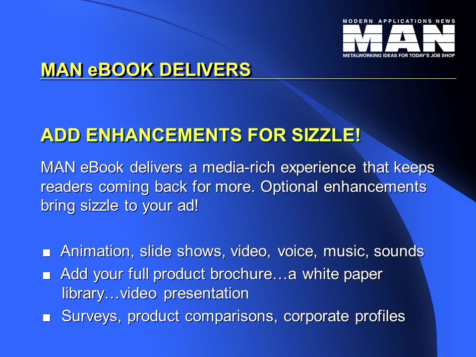 ADD ENHANCEMENTS FOR SIZZLE.