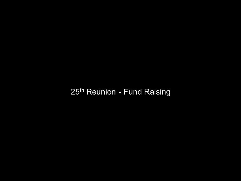 25 th Reunion - Fund Raising