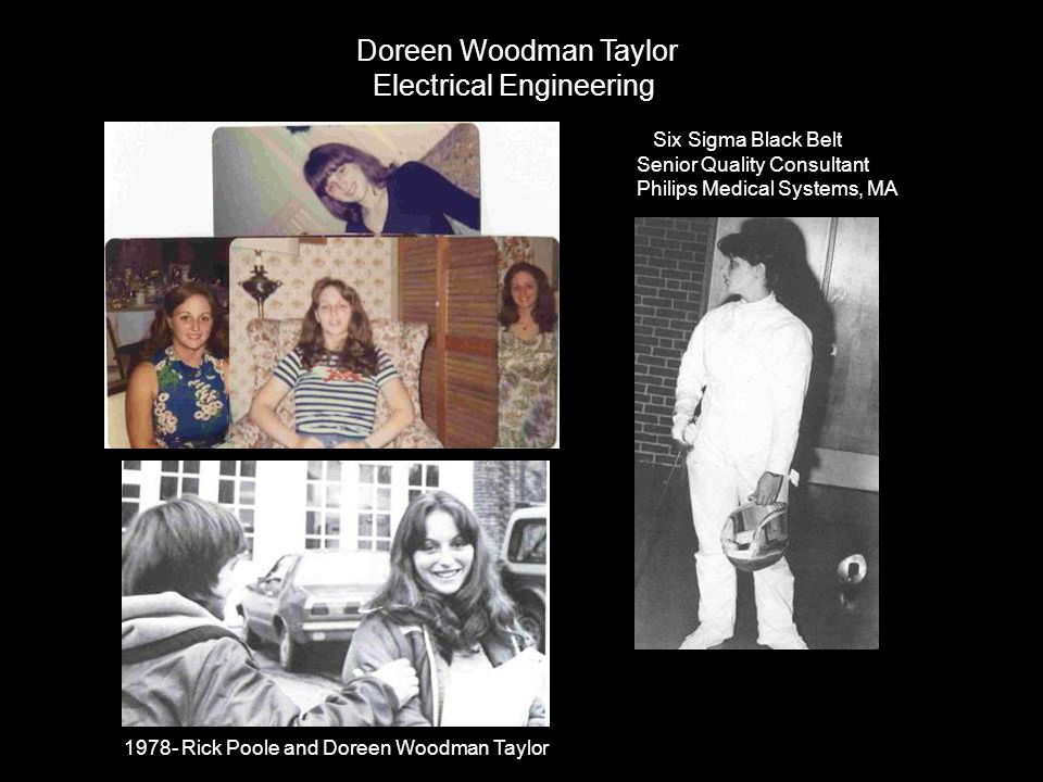 1978- Rick Poole and Doreen Woodman Taylor Doreen Woodman Taylor Electrical Engineering Six Sigma Black Belt Senior Quality Consultant Philips Medical