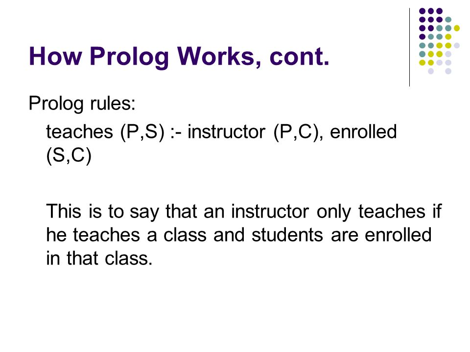How Prolog Works, cont.
