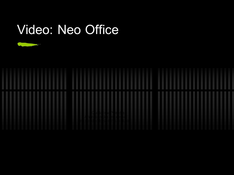 Video: Neo Office