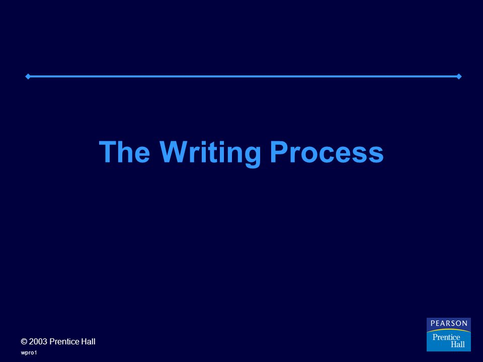 © 2003 Prentice Hall wpro1 The Writing Process