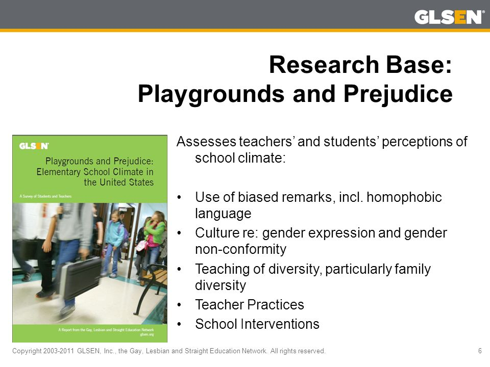 Copyright 2003-2011 GLSEN, Inc., the Gay, Lesbian and Straight Education Network.