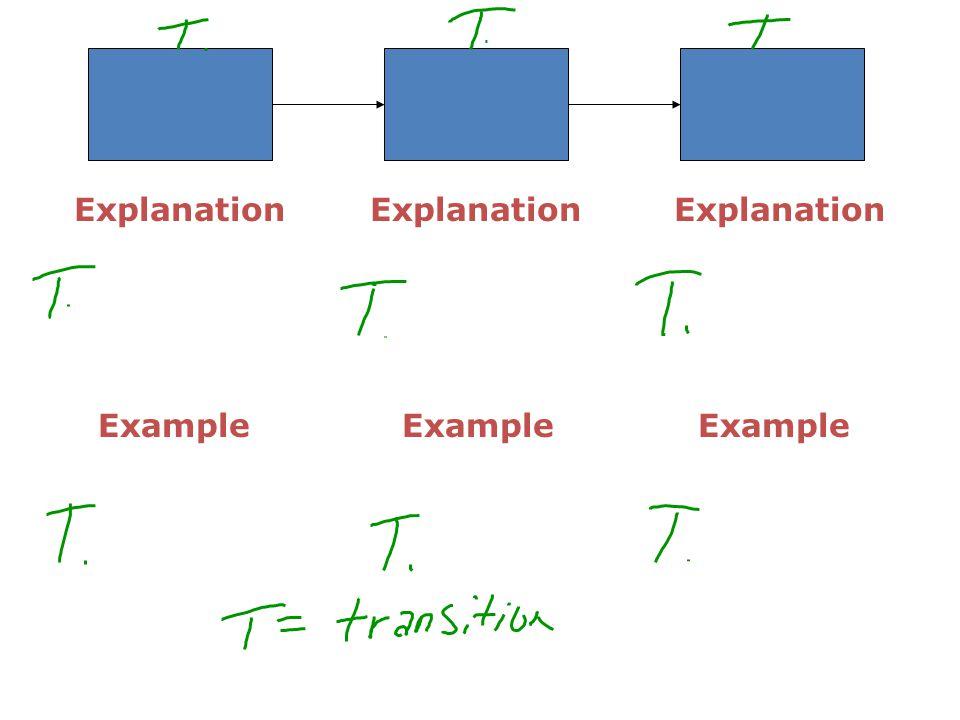 Explanation Example Explanation Example