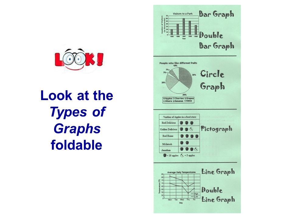 Look at the Types of Graphs foldable