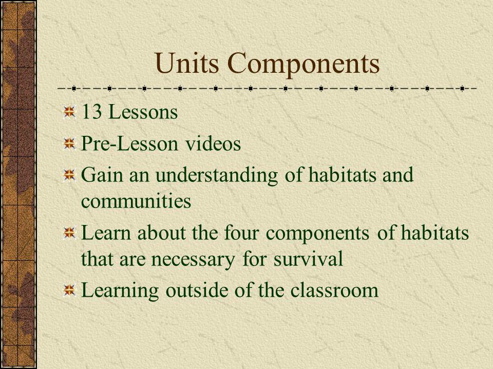 Lesson 9: Creating Habitats (Part 2) Outcomes: HC4.2, Indicators: f, l Complete habitat and written components Examine a classmate's habitat Answer questions about their classmate's habitat