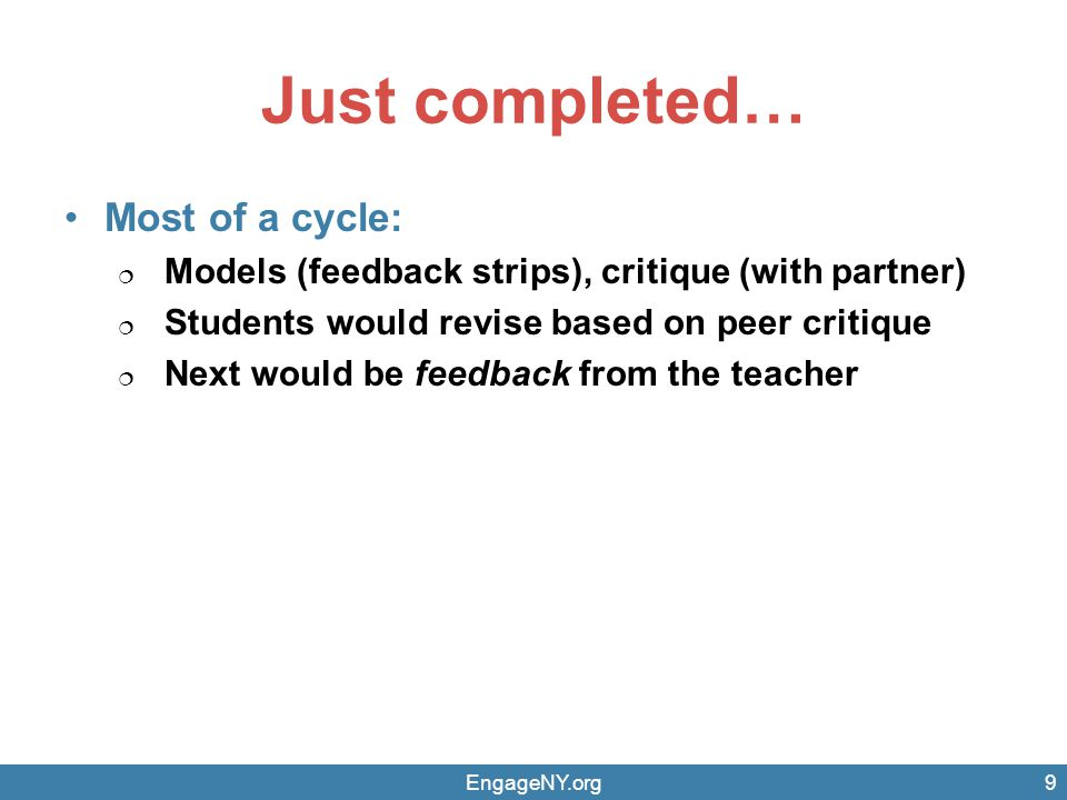 Effective Descriptive Feedback Should be specific to how to improve performance.