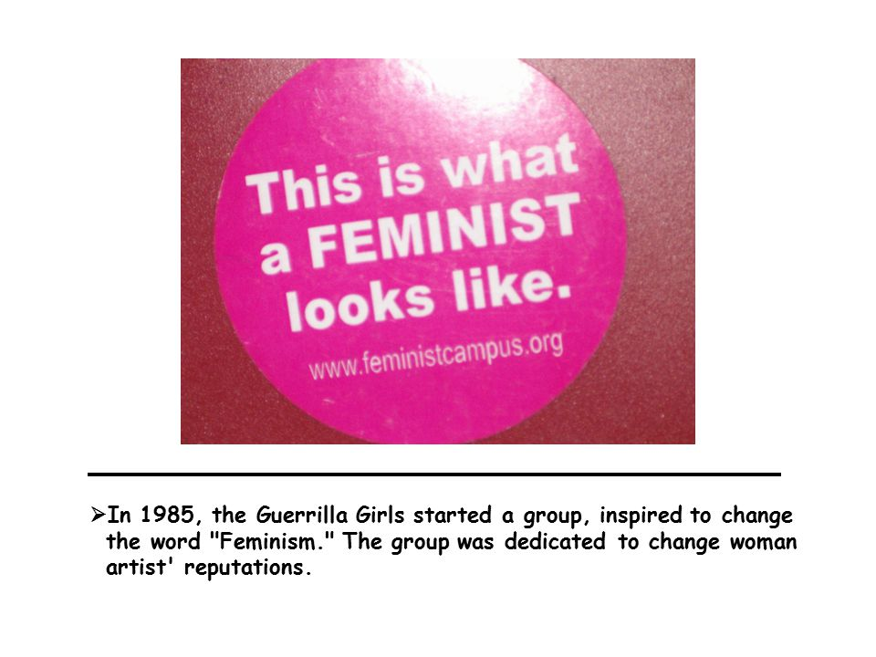  The Gorilla Girls masks became their trademark to hide their identities during interviews.